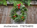 chrisrmas holly and spruce... | Shutterstock . vector #778754893
