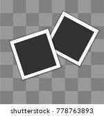 blank photo frame | Shutterstock .eps vector #778763893