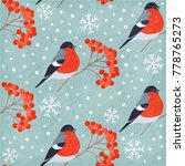 winter vintage seamless pattern ... | Shutterstock .eps vector #778765273