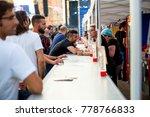 madrid   jun 22  people buy a...   Shutterstock . vector #778766833