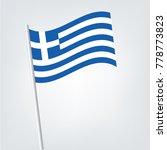 greek flag icon in cartoon... | Shutterstock .eps vector #778773823