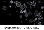 snowflakes winter texture.... | Shutterstock .eps vector #778774867