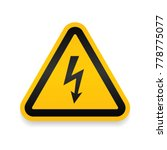 high voltage attention icon.... | Shutterstock .eps vector #778775077