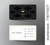modern business card template... | Shutterstock .eps vector #778775377