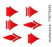 red concept arrow icon logo...