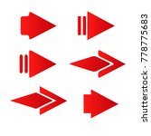red style arrow icon logo next...