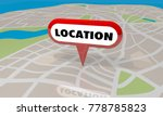 location map pin area targeted...   Shutterstock . vector #778785823