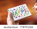 hand drawing apps concept on a... | Shutterstock . vector #778791283