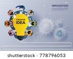 idea concept for business... | Shutterstock .eps vector #778796053