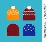 winter ski hat or beanie icon... | Shutterstock .eps vector #778797607