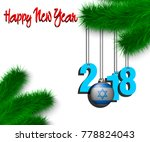 happy new year numbers 2018 and ...   Shutterstock .eps vector #778824043