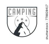 mountain camping badge symbol   Shutterstock .eps vector #778828417