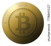 gold bitcoin coin  isolated on... | Shutterstock . vector #778845127
