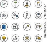 line vector icon set   power... | Shutterstock .eps vector #778845457