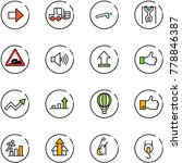 line vector icon set   right... | Shutterstock .eps vector #778846387