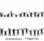 set of poses from fans for... | Shutterstock .eps vector #77884744