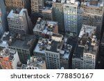 aerial view on skyscrapers.... | Shutterstock . vector #778850167