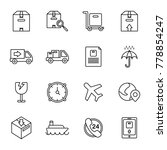 simple icons related to... | Shutterstock .eps vector #778854247