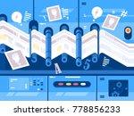 print newspaper in printing...   Shutterstock .eps vector #778856233