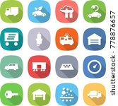 flat vector icon set   truck... | Shutterstock .eps vector #778876657