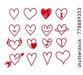 hearts icon design | Shutterstock .eps vector #778889353