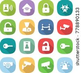 flat vector icon set   pass... | Shutterstock .eps vector #778890133