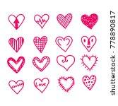 hearts icon design | Shutterstock .eps vector #778890817