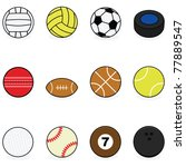 set with cartoon balls for... | Shutterstock . vector #77889547