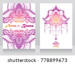 two posters for beautiful... | Shutterstock .eps vector #778899673