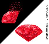 realistic ruby. beautiful red... | Shutterstock .eps vector #778900873