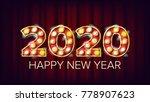 2020 happy new year vector....   Shutterstock .eps vector #778907623
