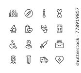 pharmacy icon set. collection... | Shutterstock .eps vector #778919857