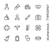 oncology icon set. collection... | Shutterstock .eps vector #778920967