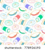 seamless pattern background... | Shutterstock .eps vector #778926193