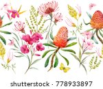 watercolor tropical horizontal... | Shutterstock . vector #778933897