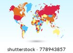 color world map vector | Shutterstock .eps vector #778943857