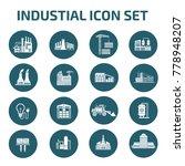 industrial icon set design... | Shutterstock .eps vector #778948207
