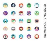 flat education icons set | Shutterstock .eps vector #778953763
