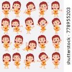 cartoon character girl in a... | Shutterstock .eps vector #778955203