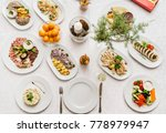 dinner on christmas table | Shutterstock . vector #778979947