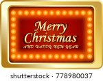 merry christmas and happy new... | Shutterstock .eps vector #778980037