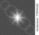glow light effect. star burst...   Shutterstock .eps vector #778990183