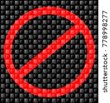 abstract prohibition sign | Shutterstock . vector #778998277