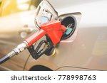 close up fuel nozzle. fill up... | Shutterstock . vector #778998763