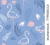 beautiful hand drawing tropical ... | Shutterstock .eps vector #779030113