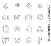business line icons  ... | Shutterstock .eps vector #779033077