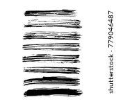 brush stroke set. texture. | Shutterstock .eps vector #779046487