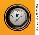 fuel gauge in orange backdrop | Shutterstock .eps vector #77905678