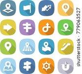 flat vector icon set   pointer... | Shutterstock .eps vector #779063527