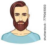 animation portrait of the young ... | Shutterstock .eps vector #779065003